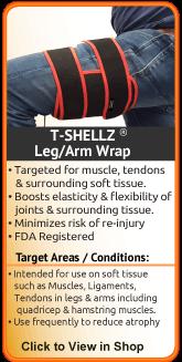This universal leg wrap can increase healing rate of a shin, calf, groin, thigh, or hamstring
